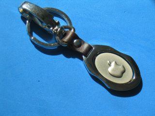 New Apple Computer Logo Mac Keychain Key Chain Chrome