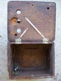 ANTIQUE VINTAGE OAK WOOD BOX TELEPHONE PHONE PART PARTS WESTERN OR