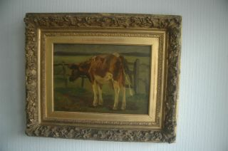 Anton Mauve Oil Painting Dutch ArtTeacher of Vincent Van Gogh Cow