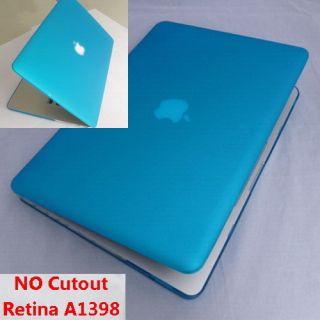 Matte Aqua Blue hard case cover clip housing f Apple Retina MacBook
