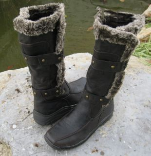 Faux Wool Fur Polar Boots Apres LAMO Sizes 6 10 Dark Brown