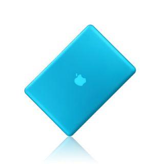 New Rubberized Aqua Blue Hard Case Cover for Apple MacBook Pro 15