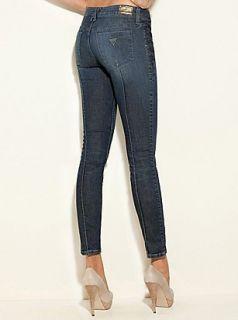Guess $108 Lizzy Power Ultra Skinny Jeans Dark Traveler Wash Sz 24