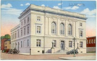 anniston al post office linen postcard alabama mailed no we carry a