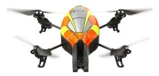 Parrot AR.Drone Quadricopter Controlled by iPhone/iPod Yellow