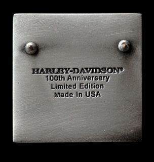 Harley Davidson 100th Anniversary Varsity Pewter Pin