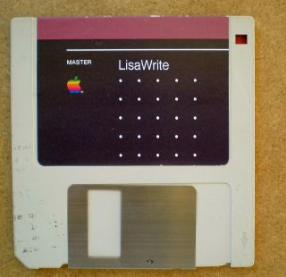 Apple Computer Vintage LisaWrite Master diskette for the Lisa II from