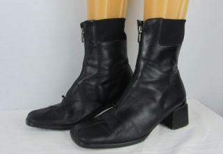 Womens Aquatalia Marvin K Black Leather Weatherproof Ankle Boots Size