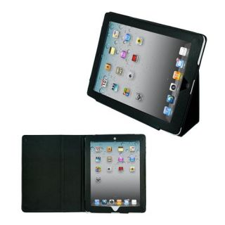 Black Kickstand Leather Case Cover for Apple iPad 2 2nd