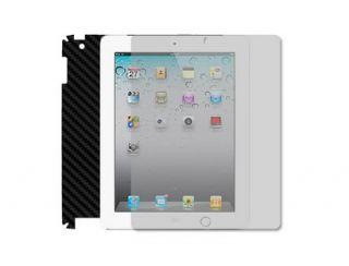 Skinomi Carbon Fiber Full + Screen Protector Film for Apple iPad 2