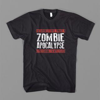 Hardest Part Zombie Apocalypse AR 15 Cod Outbreak Response Rifle Tee T