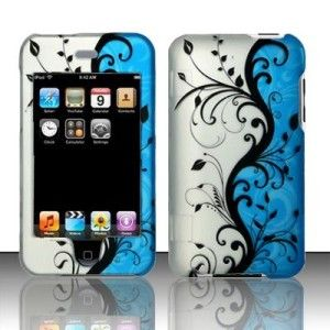 Blue Vines Hard Case Cover for Apple iPod Touch 2nd 3rd