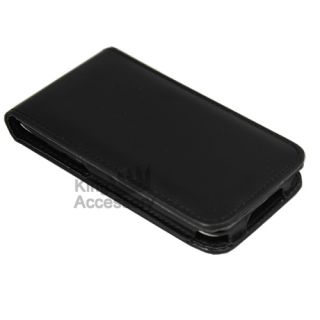 Black Leather Case for Apple iPod Touch 4G 4th Gen New