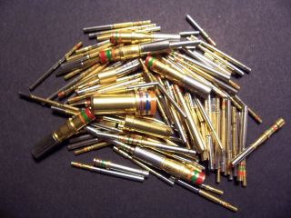 OZ 24K NOS MILITARY SPEC CONNECTOR CONTACTS PINS Gold Scrap Recovery