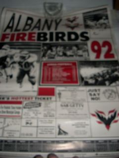 Arena League Football Poster Schedule Albany Firebirds