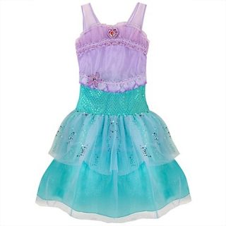 Disney Store Princess Ariel Dress Costume Gown Little Mermaid Sparkle