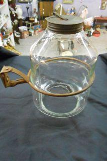 Antique Hoosier Cabinet Canister Glass Jar Flour Dispenser Rolling Pin