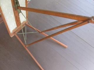 Vintage Antique Primitive Wood with Composite Top Ironing Board 3