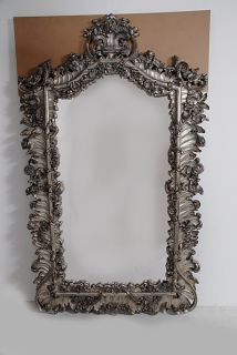 Antique Style Full Length Dressing Mirror Silver Leaf Scrolls Hand
