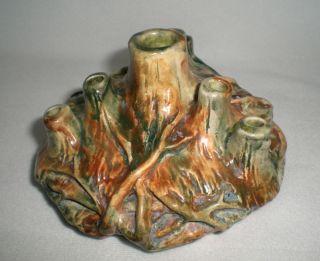 Vintage Weller Pottery Woodcraft Flower Frog