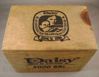 Daisy BB Gun Ammo Chest Wood BB Box 5000 BBs Unopened