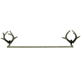 point count BUCK Deer Elk HORN TOWEL BAR Cabin Lodge Decor Antler Rack