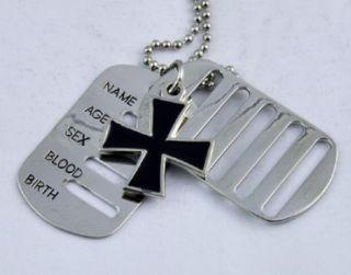 Black Iron Cross Necklace Heavy Metal WWII Death Rock