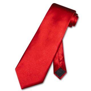 Antonio Ricci Necktie Solid Rose Red Mens Neck Tie