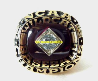 1986 ARIZONA WILDCATS WORLD SERIES NATIONAL CHAMPIONSHIP RING