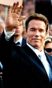 arnold schwarzenegger at the 2003 cannes film festival