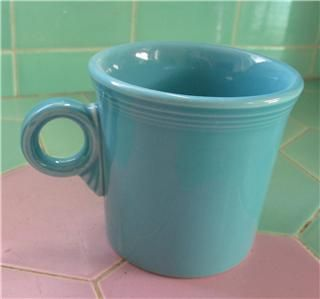 turquoise blue fiesta ware mug tom jerry mint