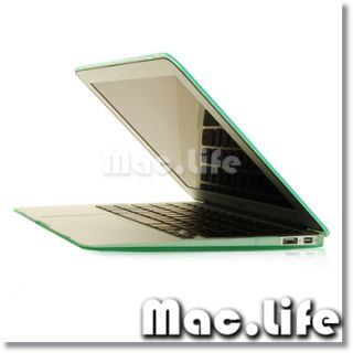 NEW ARRIVALS Rubberized GREEN Hard Case Cover for Macbook Air 13