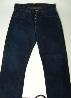 Vintage Levis BIG E 501 Denim Jeans DARK blue w/single stitched, #6