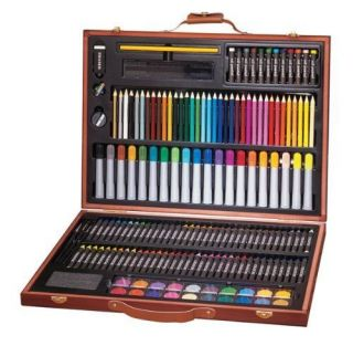 Art 101 173 Piece Wood Art Set Drawing Painting Colors Pencils Crayons