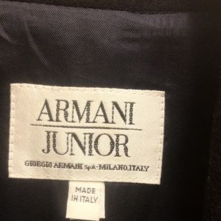 Armani Jr Blazer Jacket Wool Navy Blue Mens Xs Size 12 Junior