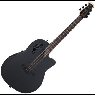 New Ovation Elite TX 1868TX Black Super Shallow Cutaway Acoustic