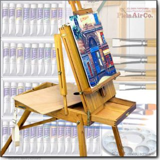 French Art Easel Oil Painting Hardwood $500 Supplies Set, Easel Choice