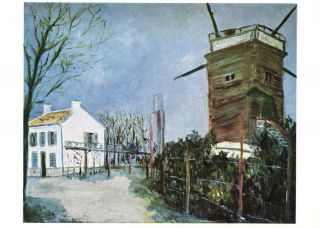 Mill at Sannois by Maurice Utrillo Unused Postcard