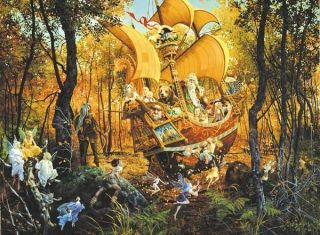 Flight of The Fable Maker Art James Christenson 1500 PC Jigsaw Puzzle