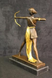 Diana the Huntress, a Roman Godess. Her Greek counterpart is Artemis