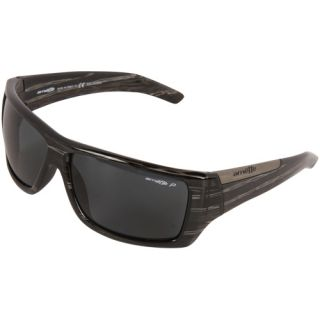 Arnette Hazard Sunglasses   Black Striped Havana/Gray Polarized