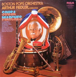 Boston Pops Orchestra with Arthur Fiedler Sousa Marches LP 1973 Stereo
