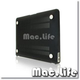 NEW ARRIVALS Rubberized BLACK Hard Case Cover for Macbook Air 13
