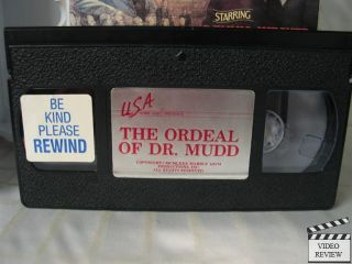 Ordeal of Dr. Mudd, The VHS Dennis Weaver, Arthur Hill