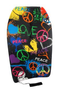 peace and love graffiti art body board boogie board