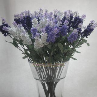 Artificial Lavender Silk Flowers Violet Arrangement Home Decor Light 3
