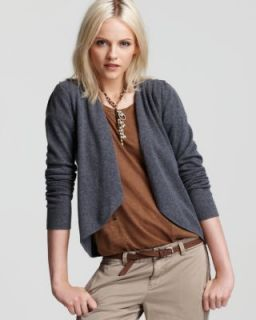 Aqua New Gray Lady Cashmere Long Sleeve Open Front Cardigan Sweater XS