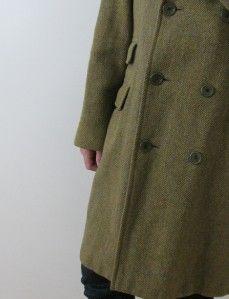 AQUASCUTUM London Vtg Tweed Wool Mans Classic Jacket Heavy Coat 42 R