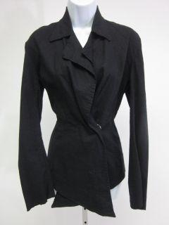NWT CYNTHIA ASHBY Black One Button Black Jacket Coat Size Small