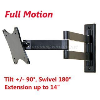 ARTICULATING ARM TILT LCD LED MONITOR TV WALL MOUNT 15 17 19 20 22 23